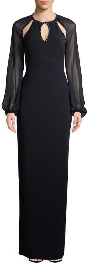 Jenny Packham Cut-Out Column Gown