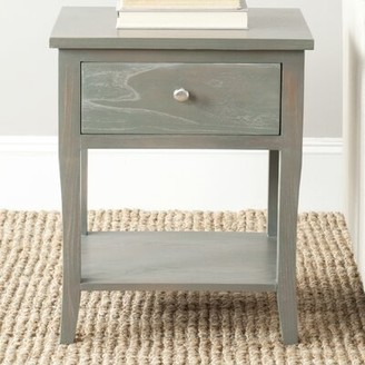 August Grove Joanna Solid Wood End Table with Storage Color: French Gray