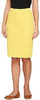 Isaac Mizrahi Live! Icon Marilyn Knit Denim Pull-On Skirt