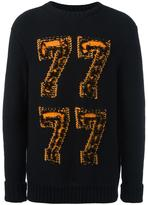 Palm Angels 7 intarsia sweater - men - Cotton - S
