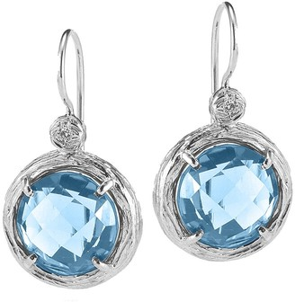 I. Reiss Color Collection 14K 2.78 Ct. Tw. Diamond & Blue Topaz Earrings