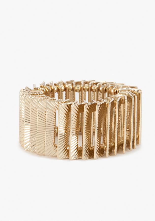Bebe Textured Multi Piece Bracelet