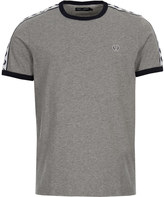 Fred Perry T-Shirt Taped Ringer M6347-420 Steel Marl