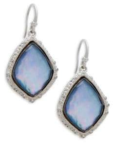 Armenta New World Diamonds, Mother-of-Pearl, Blue Sapphire, Quartz and Sterling Silver Drop Earrings