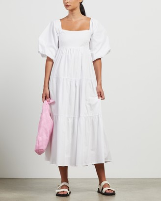 Faithfull The Brand Women's White Midi Dresses - Kiona Midi Dress - Size XS at The Iconic