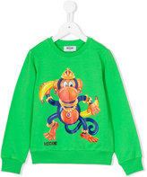 Moschino Kids - monkey sweatshirt - kids - Cotton/Spandex/Elastane - 4 yrs