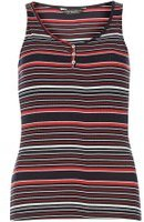 Dorothy Perkins Womens Navy and red grandad vest- Blue