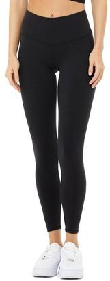 Alo Yoga 7/8 High-Waist Airbrush Legging Black Medium