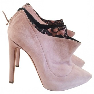 Rupert Sanderson Pink Leather Ankle boots