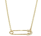 Sydney Evan Safety Pin Necklace