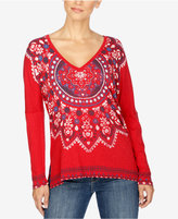 Lucky Brand Long-Sleeve Printed T-Shirt