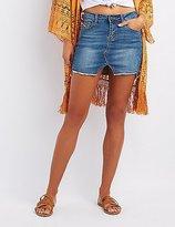 Charlotte Russe Destroyed Denim Mini Skirt