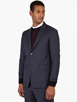 Éditions MR Navy Wool Cuff-Detail Blazer