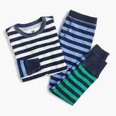 J.Crew Kids' pajama set in colorblocked stripes