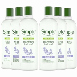 Simple Kind To Skin Relaxing Bath Soak With Lavender Oil 6 X 400Ml