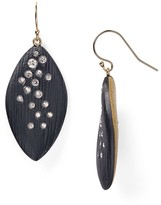 Alexis Bittar Lucite Crystal Dusted Leaflet Earrings