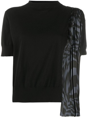 Sacai Knitted Scarf Detail Top