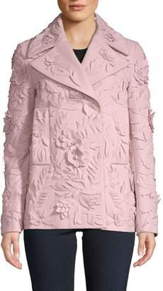 Valentino Caban Ricamato Virgin Wool Embroidery Jacket