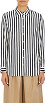 TOMORROWLAND Women's Awning-Striped Blouse-NAVY