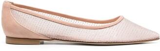 Stuart Weitzman Pointed Slip-On Ballerina Shoes