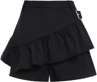 3.1 Phillip Lim Layered Ruffled Wool-twill Shorts