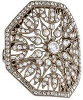 Kwiat 18K Diamond Vintage Shield Ring