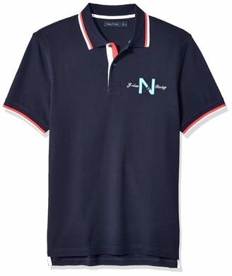 Nautica Men's Short Sleeve Regatta 100% Cotton Polo Shirt