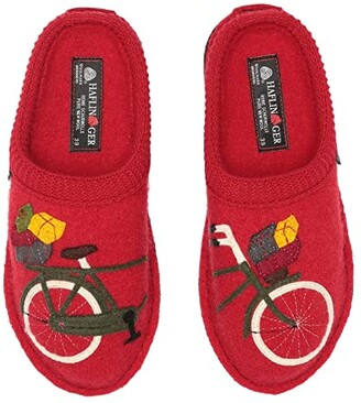 Haflinger Bicycle (Ruby Red) Women's Slippers