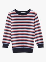 Oasis Textured Stripe Jumper, Blue/Multi
