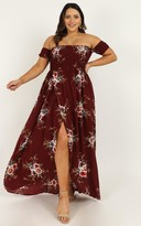 Showpo Lovestruck Maxi Dress in wine floral - 20 (XXXXL) Dresses