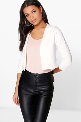 boohoo Crop Ponte Edge To Edge Blazer