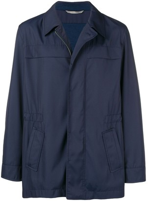 Canali straight-fit lightweight jacket
