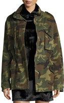 Alice + Olivia Russo Oversized Camouflage Cotton Parka