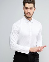 Asos Regular Fit Egyptian Cotton Shirt With Double Cuff