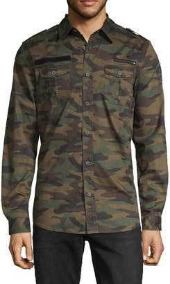 Buffalo David Bitton Camouflage Long-Sleeve Shirt
