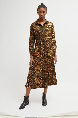 French Connection Animal Print Shirt Dress