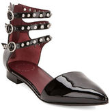Marc by Marc Jacobs Minetta Strappy Leather Studded Flats