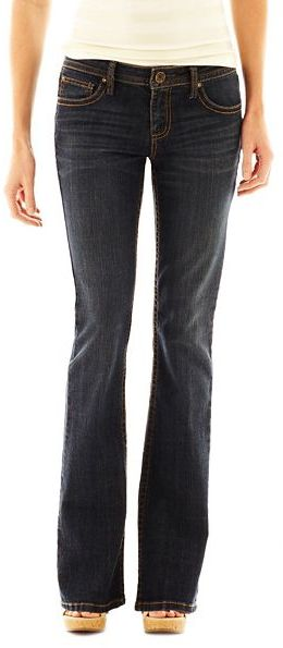 JCPenney a.n.a Thickstitch Bootcut Jeans - Talls