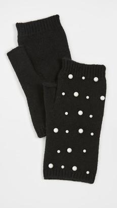 Carolina Amato Mini Pearl Scatter Fingerless Gloves