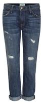 Current/Elliott The Fling Slim Boyfriend Distressed Jeans
