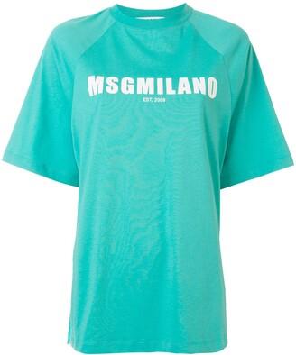 MSGM logo print raglan sleeves T-shirt
