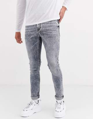 Asos Design DESIGN super skinny jeans in acid gray