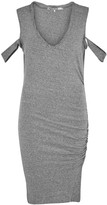 Pam & Gela Grey Open-shoulder Jersey Dress