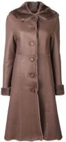 Liska fur trim trench coat