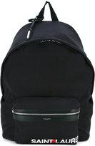 Saint Laurent logo 'City' backpack - men - Cotton - One Size