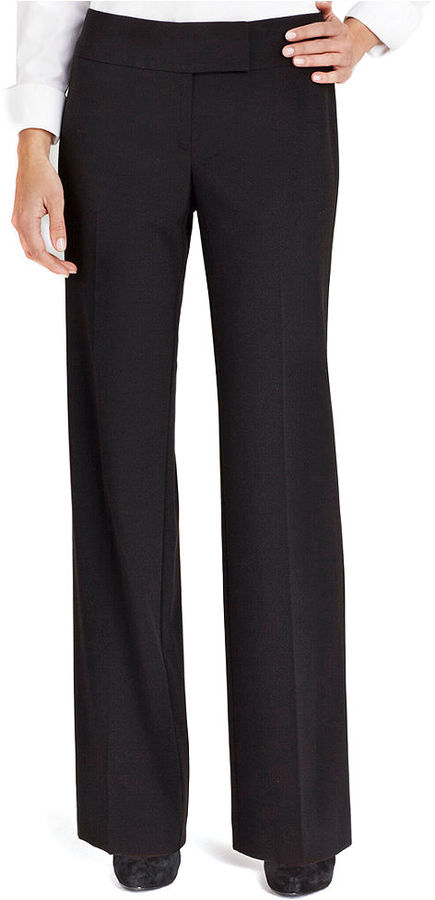 Style&Co. Pants, Tab Closure Flat Front Stretch Trouser