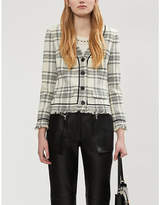 Claudie Pierlot Vissia checked tweed jacket