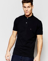 Tommy Hilfiger Polo in Slim Fit Black
