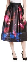 Ted Baker Women's Nuala Impressionist Bloom Print Full Skirt