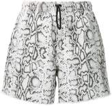 Alexander Wang snakeskin print shorts